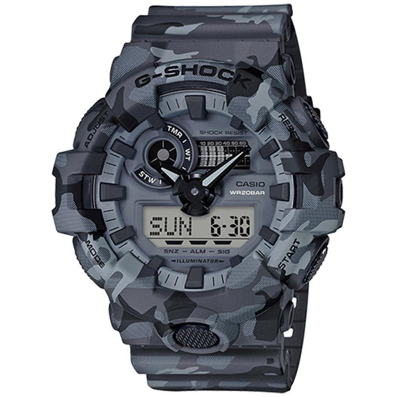 G-SHOCK Grey Camouflage Series Men's Watch - GA700CM-8A