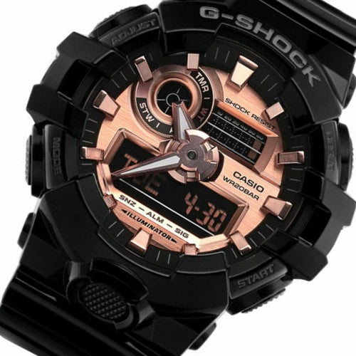 Casio G-Shock Black Resin Analog-Digital Men's Watch - GA700MMC-1A