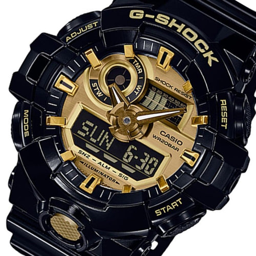 Casio G-Shock Black Resin Analog-Digital Men's Watch - GA710GB-1A