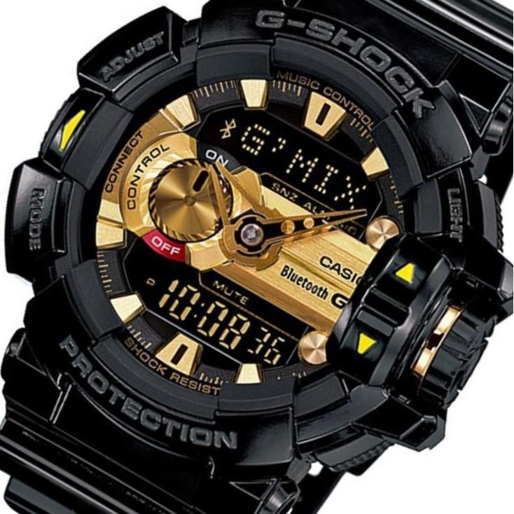 Casio G-Shock Bluetooth G'MIX Black & Gold Men's Watch - GBA400-1A9