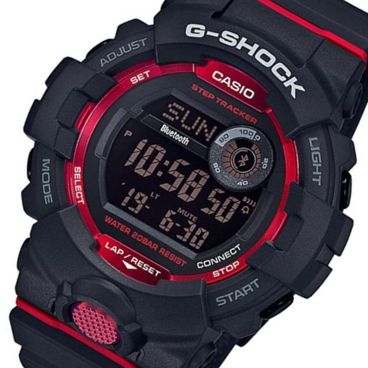 Casio G-Shock Bluetooth G-Squad Black & Red Digital Men's Watch - GBD800-1D