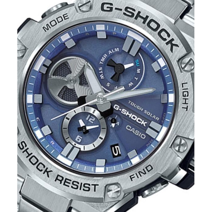 Casio G-Shock G-Steel Stainless Steel Tough Solar Men's Watch - GSTB100D-2A