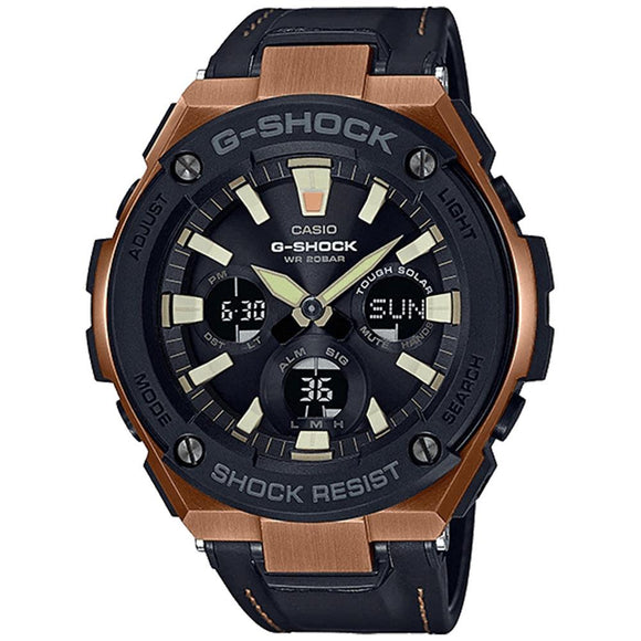 Casio G-Shock G-Steel Series Tough Leather Men's Watch - GSTS120L-1A