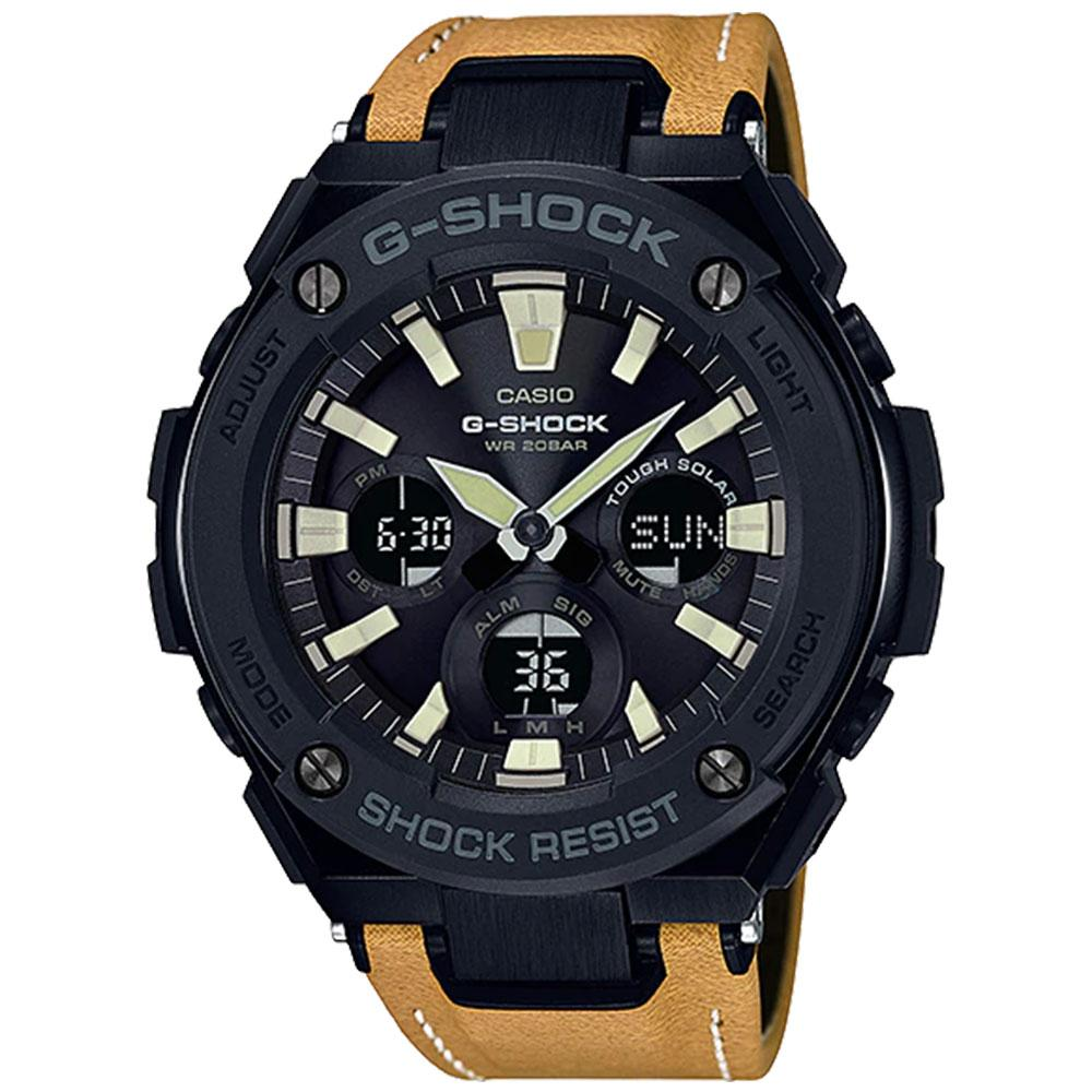 Casio G-Shock G-Steel Series Tough Leather Men's Watch - GSTS120L-1B