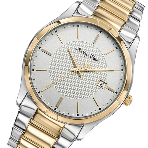 Mathey-Tissot Max Two-Tone Steel White Dial Men's Swiss Made Watch - H2111BI2