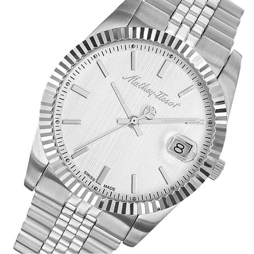 Mathey-Tissot Mathy III Stainless Steel White Dial Men's Swiss Made Watch - H810AI
