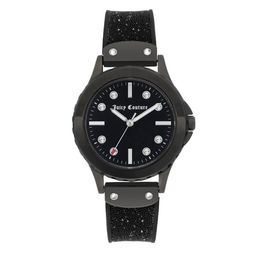 Juicy Couture Black Silicone Band Ladies Watch - JC1013BKBK