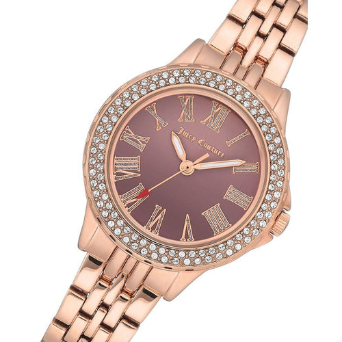 Juicy Couture Rose Gold Steel Bracelet Ladies Watch - JC1020BNRG