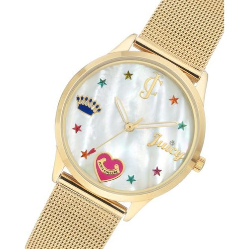 Juicy Couture Gold Mesh Ladies Watch - JC1024MPGB