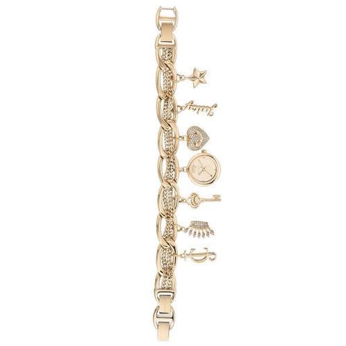Juicy Couture Ladies Gold Bracelet Watch with Charms - JC1040GPCH