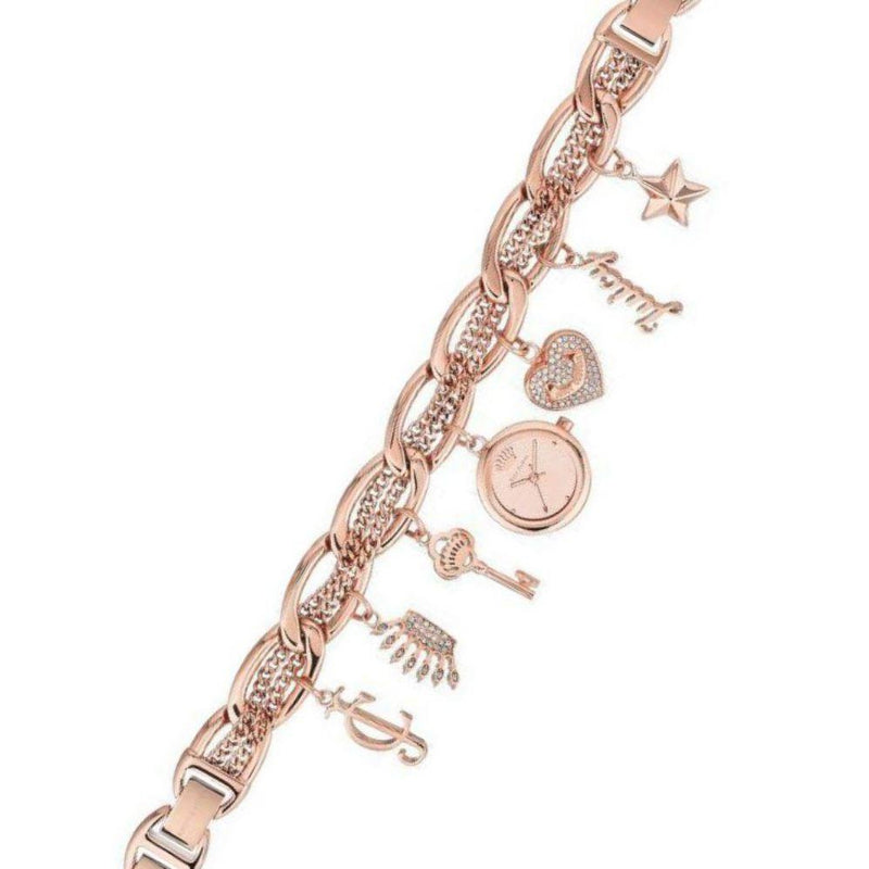 Juicy Couture Ladies Rose Gold Watch & Bracelet with Charms - JC1040RGCH
