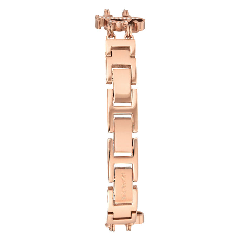 Juicy Couture Ladies Rose Gold Crystal Chain Bracelet Watch - JC1102RGCH