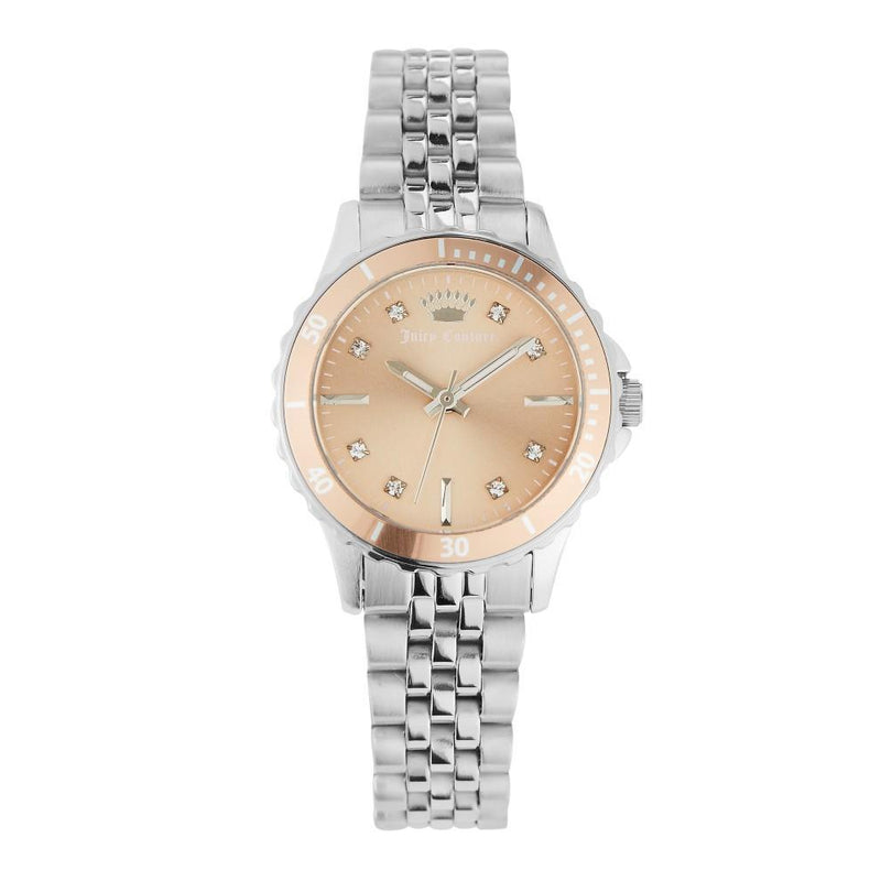 Juicy Couture Light Pink Dial with Crystals Ladies Watch - JC1137LPSV