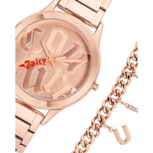 Juicy Couture Ladies Rose Gold Watch & Bracelet with Charms - JC1146RGST