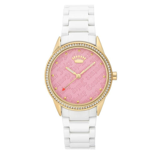 Juicy Couture Light Pink Dial with Swarovski Crystals Ladies Watch - JC1172PKWT