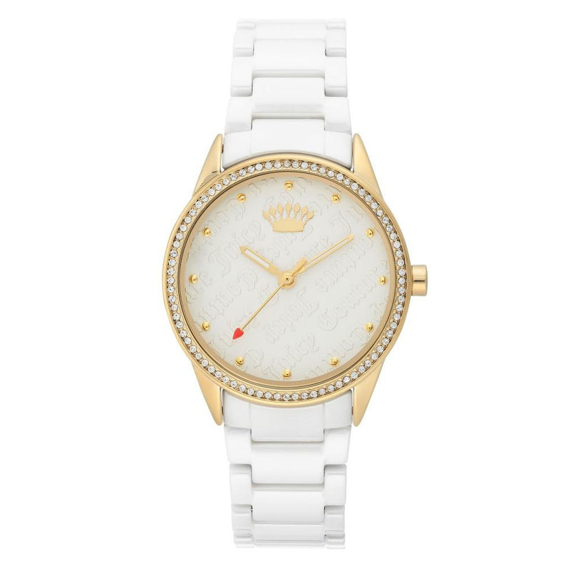Juicy Couture White Dial with Swarovski Crystals Ladies Watch - JC1172WTWT