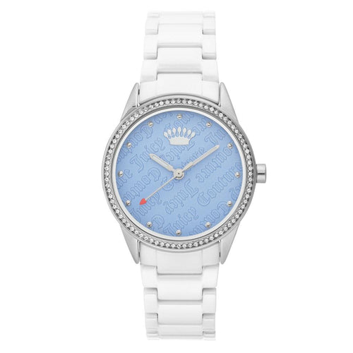 Juicy Couture White Ceramic Band Ladies Watch - JC1173LBWT