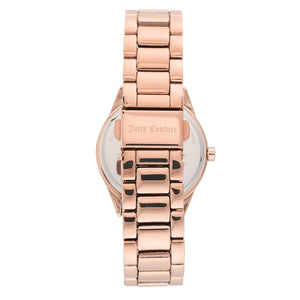 Juicy Couture Rose Gold Steel with Swarovski Crystals Ladies Watch - JC1174RGRG