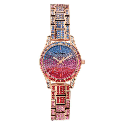 Juicy Couture Multi-colour Swarovski Crystals Ladies Watch - JC1180MTRG