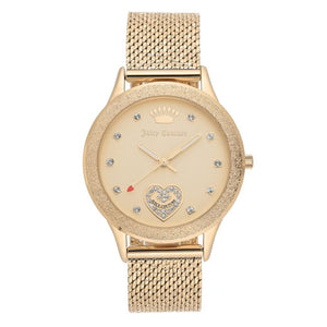 Juicy Couture Gold Mesh Ladies Watch - JC1210CHGB