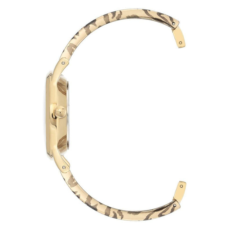 Juicy Couture Gold Steel with Leopard Pattern Ladies Watch - JC1238GDLE