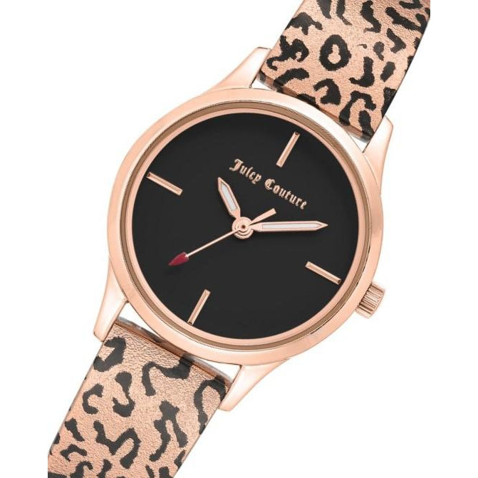 Juicy Couture Rose Gold Steel with Leopard Pattern Ladies Watch - JC1238RGLE