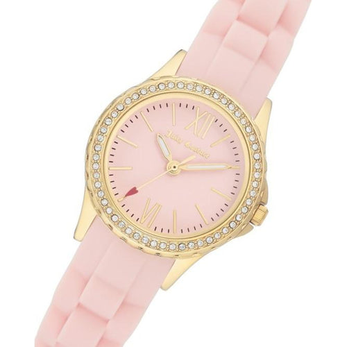 Juicy Couture Light Pink Silicone Band Ladies Watch - JC1248GPLP