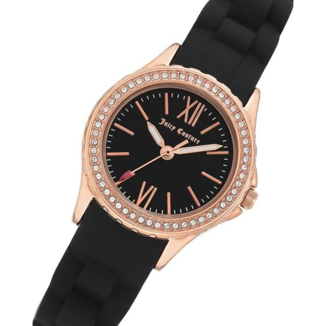 Juicy Couture Black Dial with Swarovski Crystals Ladies Watch - JC1248RGBK