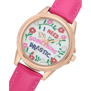 Juicy Couture White Dial with Floral Pattern Ladies Watch - JC1258RGHP