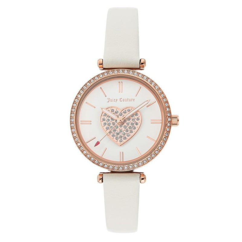 Juicy Couture White Dial with Swarovski Crystals Ladies Watch - JC1268RGWT