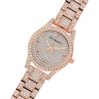 Juicy Couture Rose Gold Steel with Swarovski Crystals Ladies Watch - JC1180PVRG