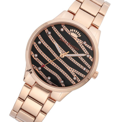 Juicy Couture Rose Gold Steel Ladies Watch - JC1224BKRG