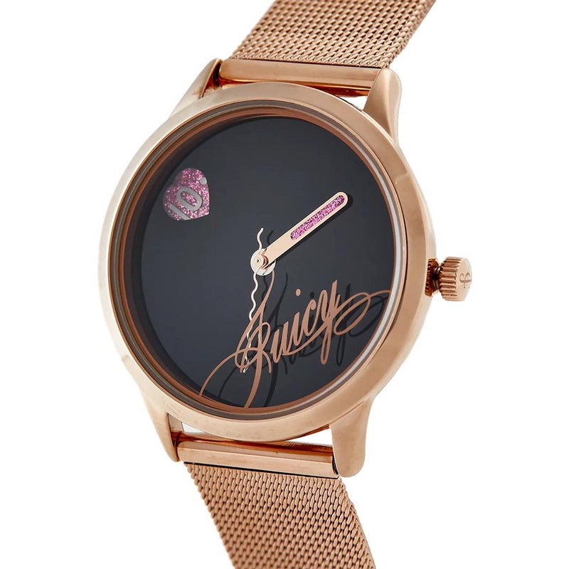 Juicy Couture Rose Gold Mesh with Interchangeable Strap Set Ladies Watch - JC1242RIST