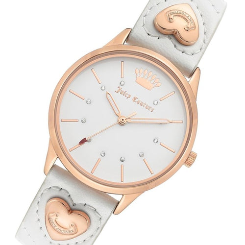 Juicy Couture White Leather Women's Watch - JC1306RGWT