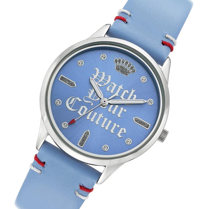 Juicy Couture Light Blue Leather Women's Watch - JC1313LBLB