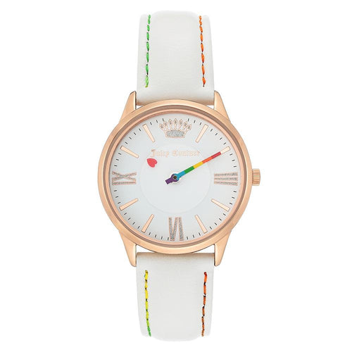 Juicy Couture White Leather Women's Watch - JC1314RGWT