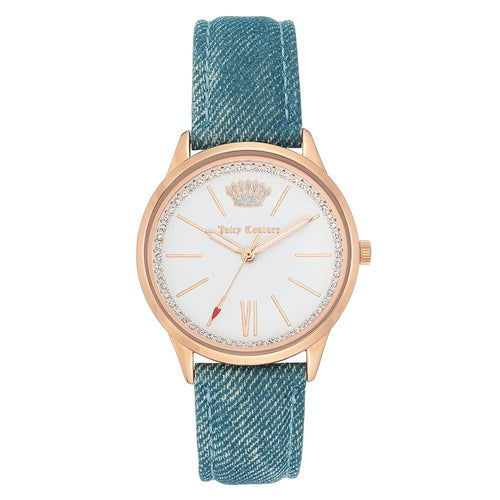 Juicy Couture Light Blue Denim Band Women's Watch - JC1318RGDM