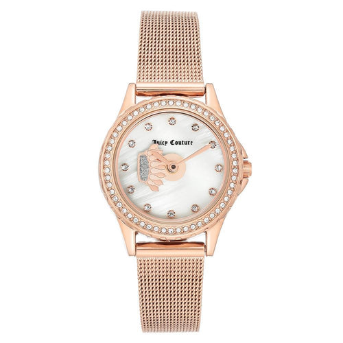 Juicy Couture Rose Gold Mesh Women's  Watch - JC1322MPRG