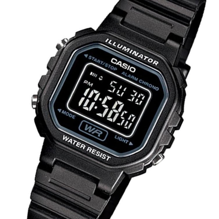 Casio Illuminator Chrono Alarm Ladies Watch - LA20WH-1B