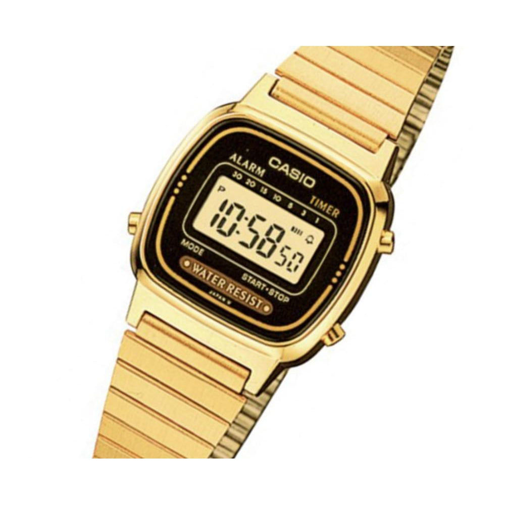 Casio Vintage Gold Steel Ladies Watch - LA670WGA-1UR