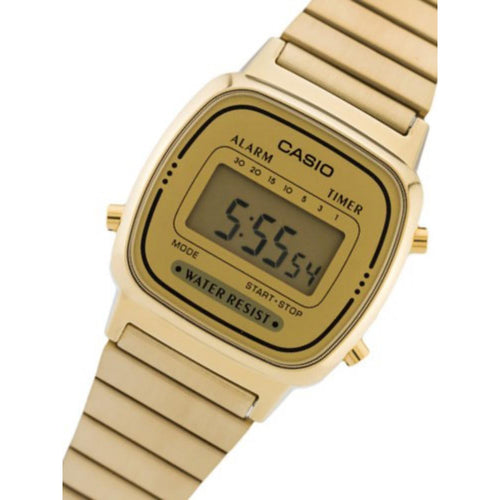 Casio Retro Gold Steel Ladies Watch - LA670WGA-9
