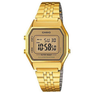 Casio Gold Retro Ladies Digital Watch - LA680WGA-9D