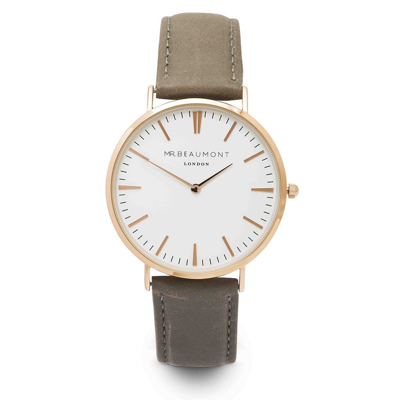 Mr. Beaumont Grey Leather Men's Watch - MB1801.3