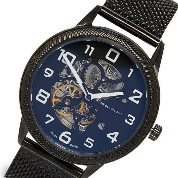Mr. Beaumont Black Automatic Skeleton Men's Watch - MB1804.2
