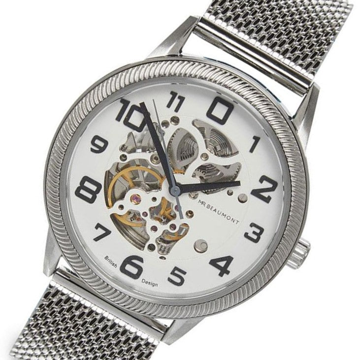 Mr. Beaumont Silver Automatic Skeleton Men's Watch - MB1804.3