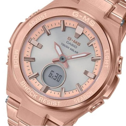 Casio Baby-G Rose Gold Solar Powered Ladies Watch - MSGS200DG-4A