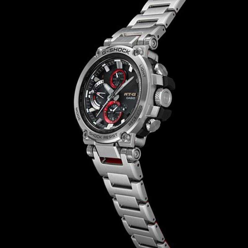 Casio G-Shock MT-G Bluetooth & Multiband 6 Solar Powered Stainless Steel Men's Watch - MTGB1000D-1A
