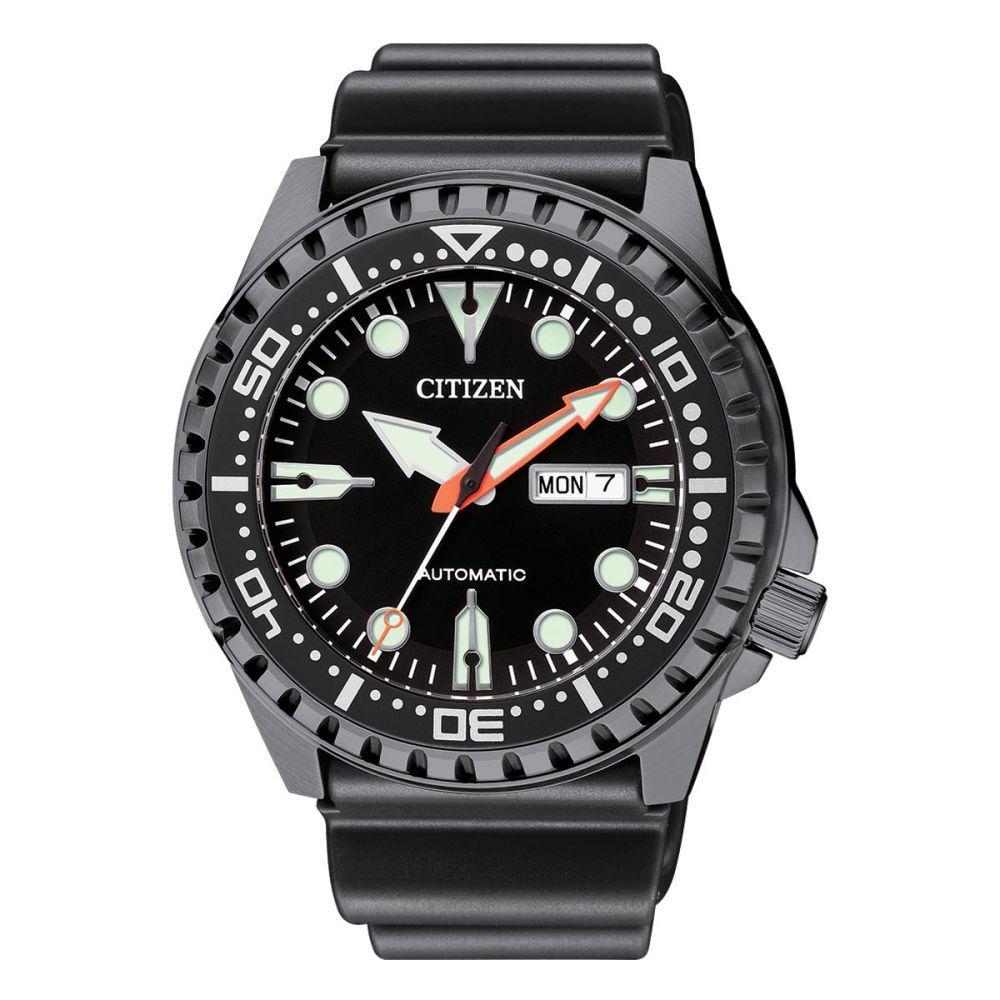 Citizen Black Silicone Band Men's Automatic Watch - NH8385-11E