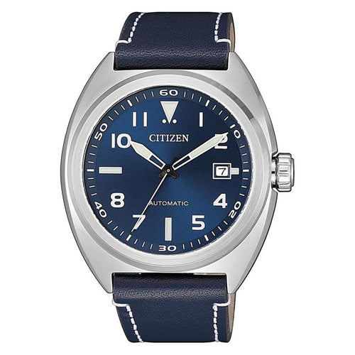 Citizen Blue Leather Automatic Men's Watch - NJ0100-20L
