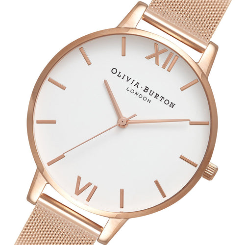 Olivia Burton Rose Gold Mesh Ladies Watch - OB15BD79
